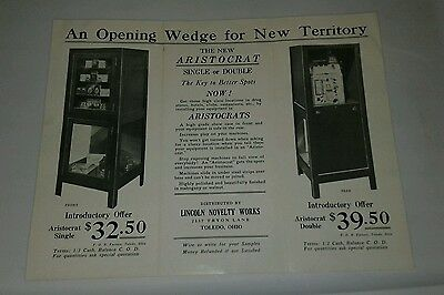 Mills Novelty Pace Watling Slot Machine Stand Flyer Poster original 1930's
