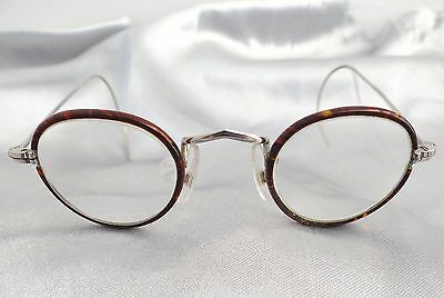 VINTAGE 1940's BOYS HARRY POTTER TORTOISESHELL GOLD SPECTACLES / EAR LOOP SIDES