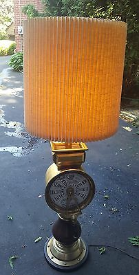 "Vintage Brass Chadboams Liver Pool Ship Telegraph 46"" tall lamp very rare!!!"