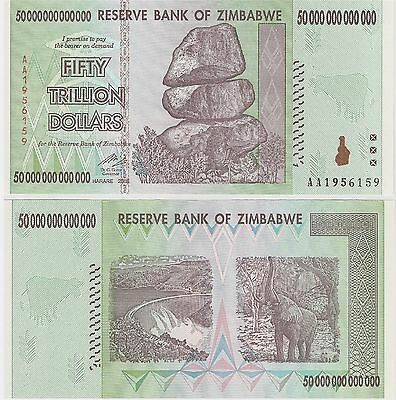 Zimbabwe,  $50 Trillion Dollars,   P-90, 2008  Unc,  100 Trillion Series