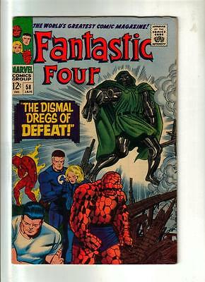 Fantastic Four #58 -Jack Kirby art; Marvel 1966 Higher grade