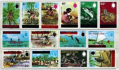 GILBERT Is. GB, SC253~66 (14) CplSet,1976 Ovpt. E2R Definitive  MNH $19