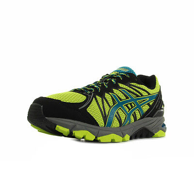 Chaussures Asics homme Gel Fuji Trabuco 3 Running taille Jaune Textile Lacets
