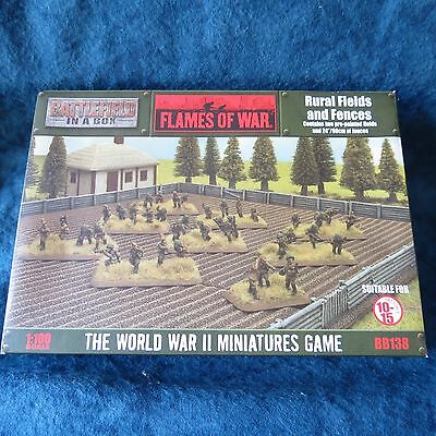 Flames Of War (WWII): Rural Fields and Fences BB138 New
