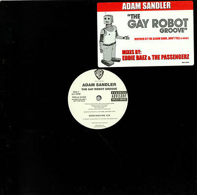 "The Gay Robot Groove Adam Sandler USA 12"" vinyl single record (Maxi) promo"