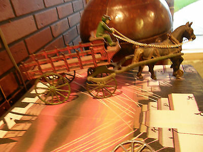 "EARLY KENTON TOYS CAST IRON 15"" Horse Drawn STAKE WAGON Arcade Hubley Kilgore"