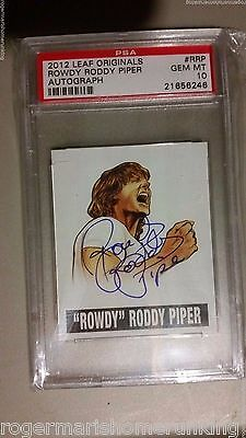 2012 Leaf Originals Psa 10 Card Wrestling Rowdy Roddy Piper Autograph Wwe Auto