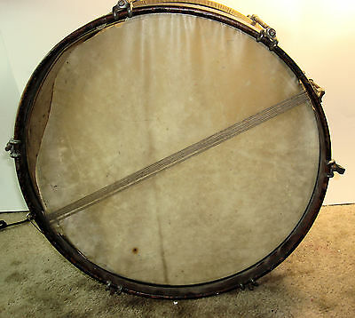 "Antique 15-1/2"" Brass Shell Marching Snare Drum"