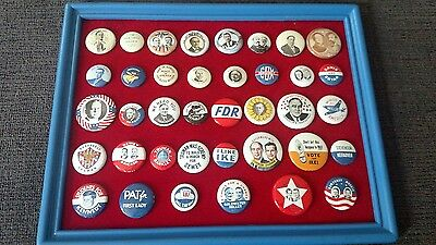 campaign buttons lot Kennedy Roosevelt FDR