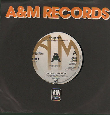 """Up The Junction Squeeze 7"""" vinyl single record UK promo AMS7444 A&M 1979"""