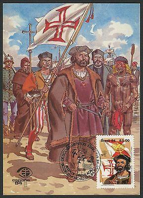 Brazil FDC Scott #1914-15 Maxi Cards: Pedro Cabral; Christopher Columbus