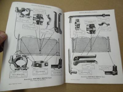 American Steel & Wire Co. Gate Repair Fence Stretcher Hardware Catalog Antique