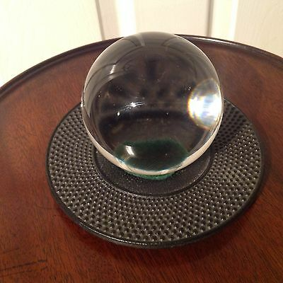 Art - Deco Style Fortune Tellers Crystal Glass Ball On Stand