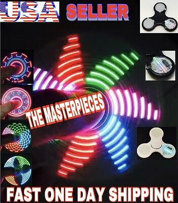 PATTERNS LED TRI SPINNER FIDGET(THE MASTERPIECE),7 LEDs 20 PATT, CHRISTMAS GIFT