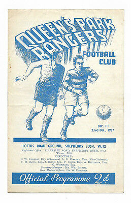 1937/38 Division 3 South - QUEENS PARK RANGERS v. CRYSTAL PALACE