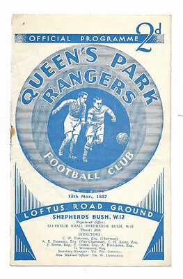1936/37 Division 3 South - QUEENS PARK RANGERS v. NEWPORT COUNTY