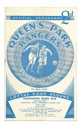 1936/37 Division 3 South - QUEENS PARK RANGERS v. CRYSTAL PALACE