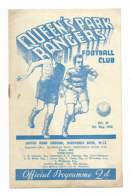 1937/38 Division 3 South - QUEENS PARK RANGERS v. TORQUAY UNITED