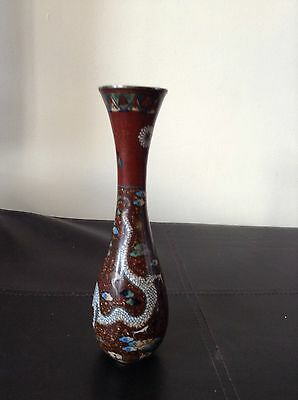 Rare Japanese Meiji Period Antique Dragon Vase Rare Shape