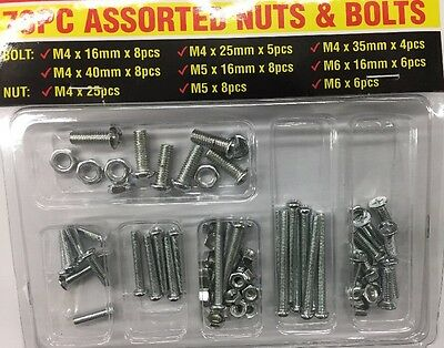 78 Pc Assorted Nuts & Bolts  Oz Stock
