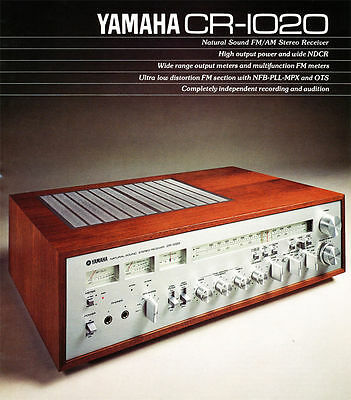 Yamaha Cr-1020 Top Vintage Lovely Stereo Receiver