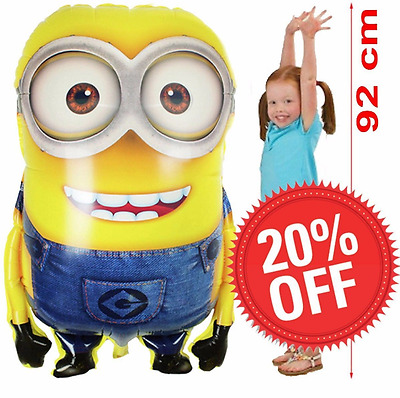 Despicable Me 92x65 Minions Foil Helium Balloon Kids Birthday Toddler Gift Party