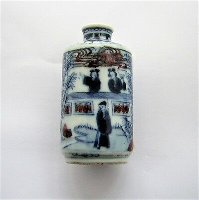 CHINESE  PORCELAIN SNUFF BOTTLE ( in personal collection for 25 years )