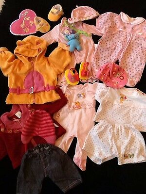 Bundle Of Zapf Creation Dolls Clothes, Outfits, To Fit Baby Annabell & Chou Chou