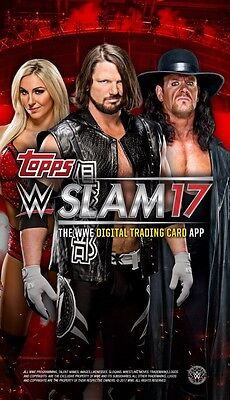 Topps Wwe Slam Digital/ ANY 10 Card/ You Pick
