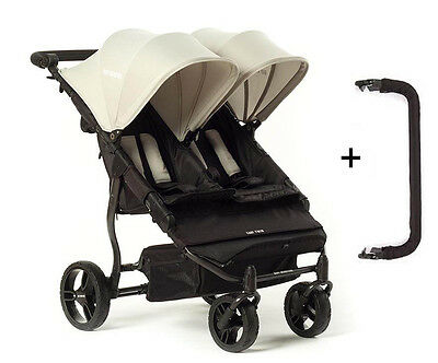 Easy Twin 2.0 Gris cochecito gemelar Baby Monsters + REGALO
