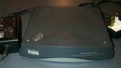 Used Cisco ATA 186-12 & Power Supply and P&P INCL