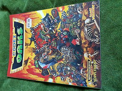 Games Workshop Warhammer 40K Codex Orks 2nd Edition perfect condition
