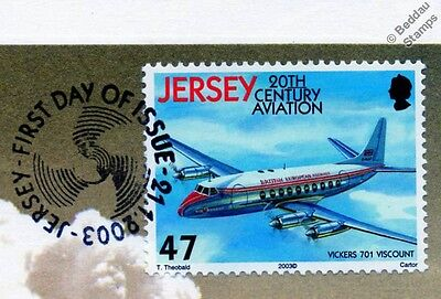 Vickers VISCOUNT 701 Airliner Aircraft Stamp FDC (100 Years of Powered Flight)