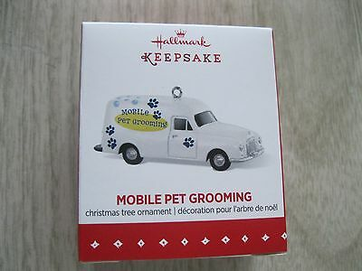 2015 Hallmark Ornament -Mobile Pet Grooming - Miniature - Vehicle - Limited -New