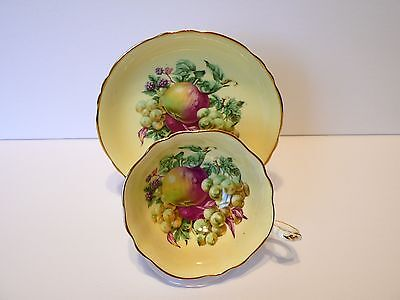 Paragon Fruits Bone China Tea Cup & Saucer Set