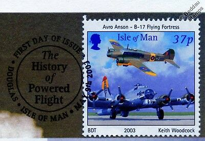 AVRO ANSON & B-17 FLYING FORTRESS Aircraft Stamp FDC 100 Years of Powered Flight