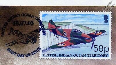 RAF Hawker HURRICANE WWII Aircraft Stamp FDC (100 Years of Powered Flight)