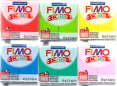 FIMO kids 42 Gramm modeling clay all colors/ sets free selectable