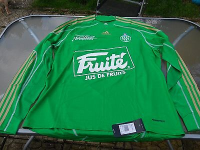 As St Etienne Player Issue Long Sleeved Home Shirt 2010 Xl Mens Brand New Tagged