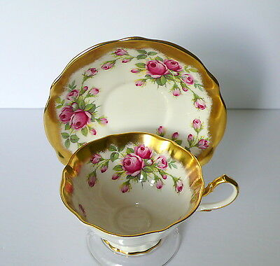 Queen Anne Pink Roses Bone China Cup & Saucer Set