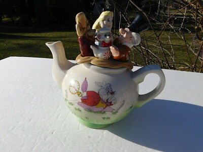 P Cardew 1996 ALICE IN WONDERLAND Walt Disney Teapot  NUMBERED 2718 of 5,000