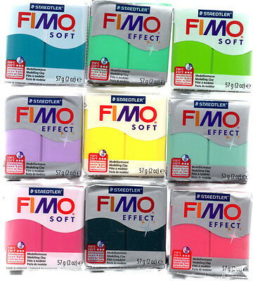 FIMO soft /effect 56/57 Gramm modeling clay all colors free selectable
