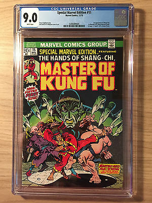Marvel Special Edition #15 CGC 9.0 VF/NM First Shang-Chi Master of Kung Fu