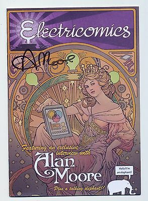 Electricomics #1! Signed / Signature Alan Moore! Ultra Rare! SEE PICS AND SCANS!
