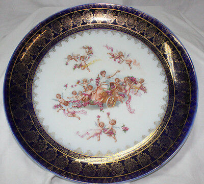 Vintage Carlsbad Charger Plate hand painted 12 inches Austria