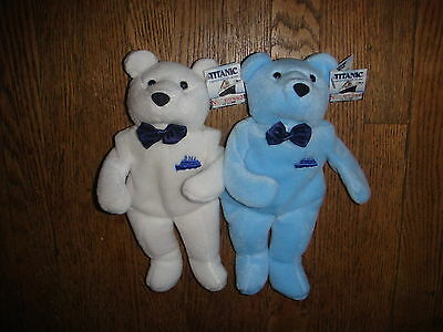 RARE SET NEW Limited Edition Titanic Dart Bears Plush Launch Lost Numbered Ship
