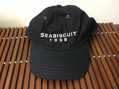 NEW NTRA Seabiscuit 1938 Hat Baseball Cap Horse racing Black Roots Embroider