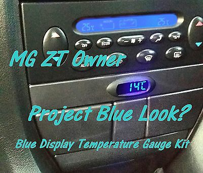 MG ZT Rover 75 Project Blue K-Bus Digital Temperature Gauge with Blue Display