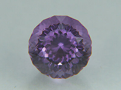 Amethyst. Portuguese Cut. Dark Bolivian Material. 12mm. 9.15 cts. Gorgeous Stone