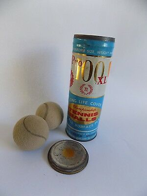 Vintage Pro 100 XL Tin with Two Tennis Balls Sport Collectible
